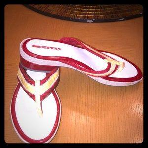 Authentic Prada flip flops!